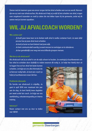 Afvalcoach advertentie